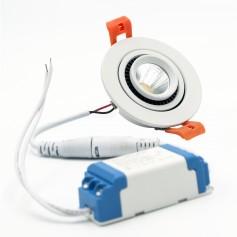 Faretto LED da Incasso 3W - Orientabile